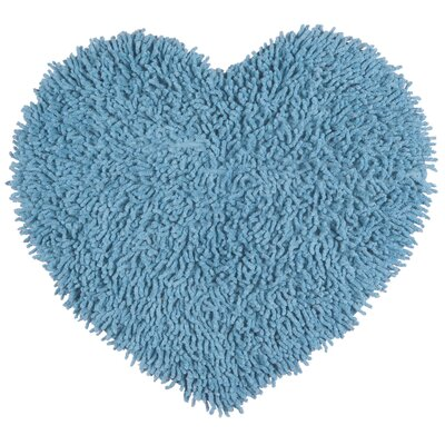 Shagadelic Hand-Loomed Light Blue Area Rug Rug Size: Heart 18 x 2
