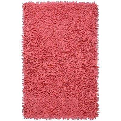 Shagadelic Hand-Loomed Pink Area Rug Rug Size: Rectangle 19 x 210