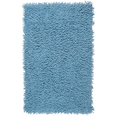 Shagadelic Hand-Loomed Light Blue Area Rug Rug Size: Rectangle 19 x 210