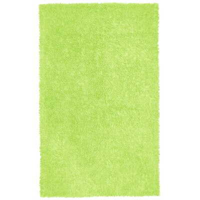 Shagadelic Hand-Loomed Green Area Rug Rug Size: Rectangle 19 x 210