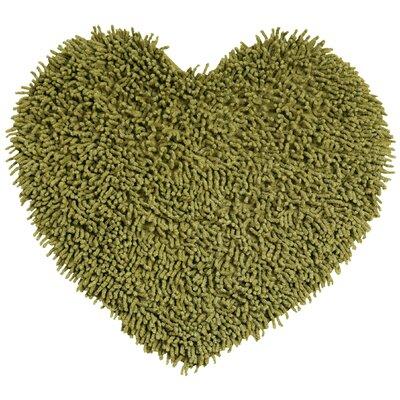 Shagadelic Hand-Loomed Moss Area Rug Rug Size: Heart 18 x 2