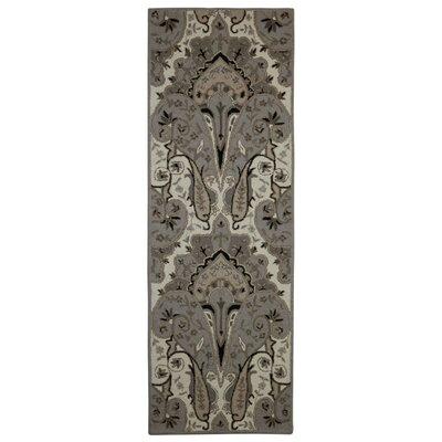 Structure Hand-Tufted Silver Area Rug Rug Size: Runner 26 x 8