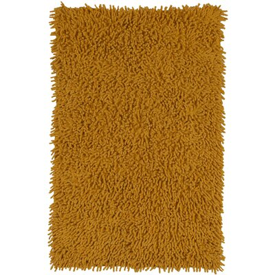 Shagadelic Hand-Woven Gold Area Rug Rug Size: 19 x 210