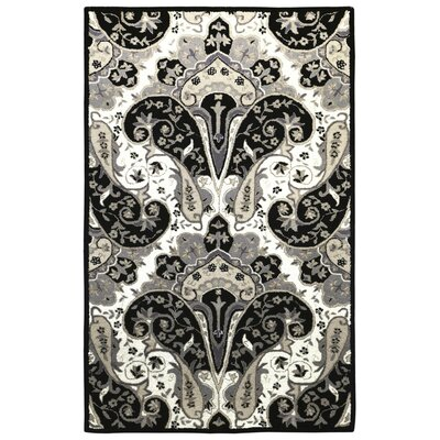 Structure Hand-Tufted Black Area Rug Rug Size: Rectangle 4 x 6