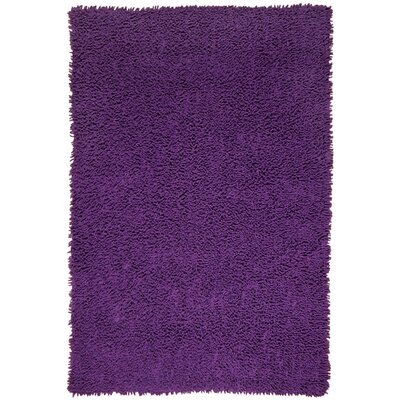 Shagadelic Hand-Loomed Purple Area Rug Rug Size: Rectangle 19 x 210
