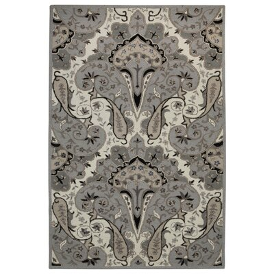 Structure Hand-Tufted Silver Area Rug Rug Size: Rectangle 5 x 8
