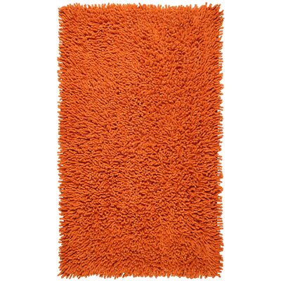 Shagadelic Hand-Loomed Copper Area Rug Rug Size: Heart 18 x 2