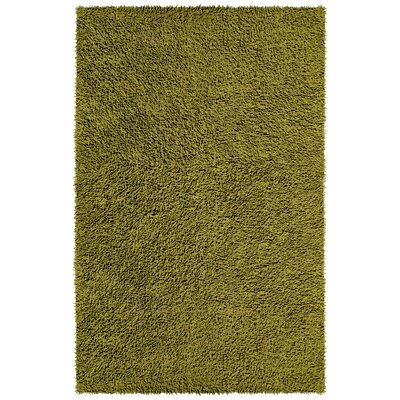 Shagadelic Hand-Loomed Moss Area Rug Rug Size: Rectangle 19 x 210