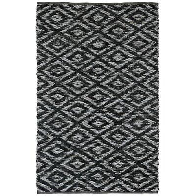 Matador Hand-Loomed Black Area Rug Rug Size: 5 x 8
