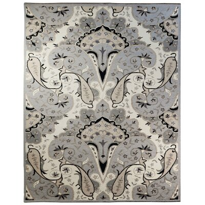 Structure Hand-Tufted Silver Area Rug Rug Size: Rectangle 8 x 11
