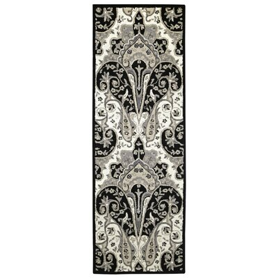 Structure Hand-Tufted Black Area Rug Rug Size: Runner 26 x 8