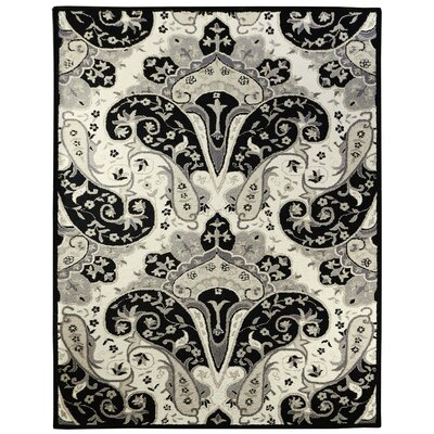 Structure Hand-Tufted Black Area Rug Rug Size: Rectangle 8 x 11