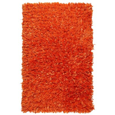 Baumann Hand-Loomed Orange Area Rug Rug Size: Rectangle 26 x 42