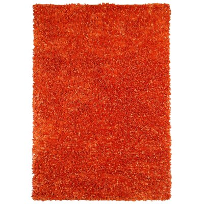 Baumann Hand-Loomed Orange Area Rug Rug Size: Rectangle 4 x 6