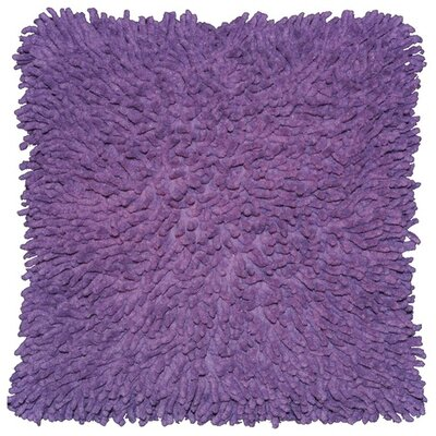 Shagadelic Chenille Euro Pillow Color: Purple