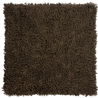 Shagadelic Chenille Euro Pillow Color: Brown