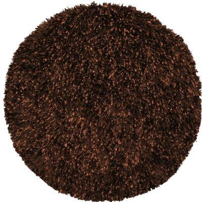 Baumann Hand-Loomed Brown Area Rug Rug Size: Round 3
