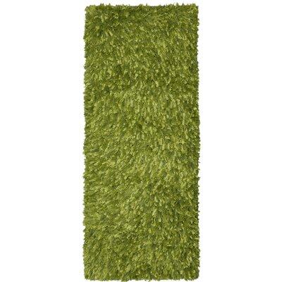 Baumann Hand-Loomed Green Area Rug Rug Size: Runner 2 x 5