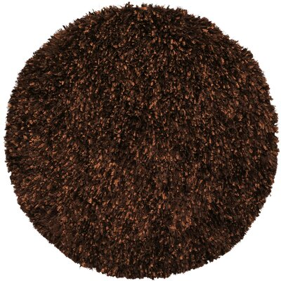 Baumann Hand-Loomed Brown Area Rug Rug Size: Round 2