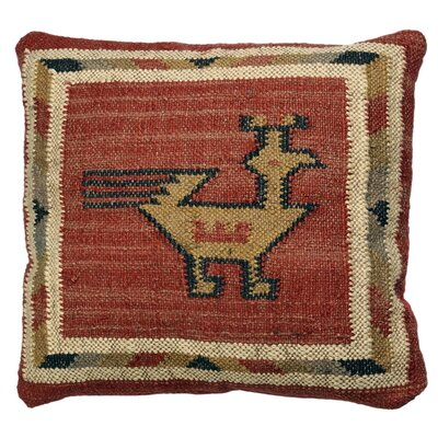 Hacienda Throw Pillow Color: Red