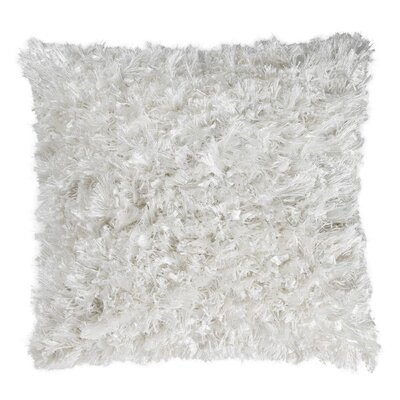Shimmer Shag Throw Pillow Size: 18 H x 18 W x 6 D, Color: White