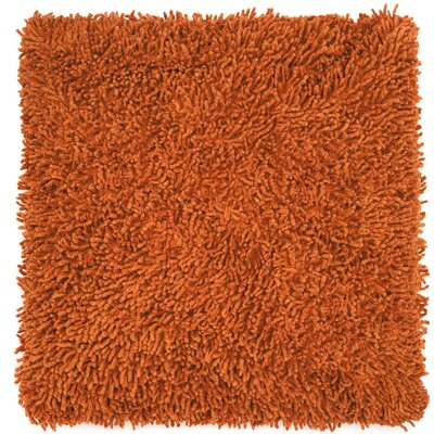 Shagadelic Chenille Euro Pillow Color: Orange