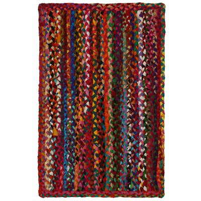 Hand-Loomed Multi Color Area Rug Rug Size: 26 x 42