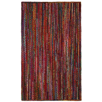Hand-Loomed Multi Color Area Rug Rug Size: 5 x 8