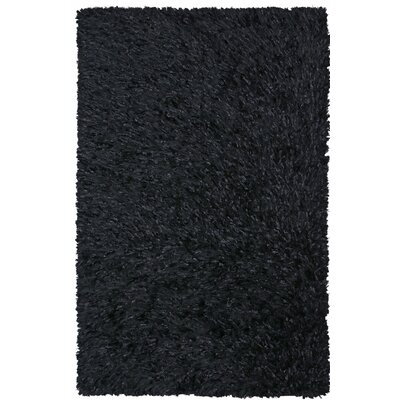 Baumann Hand-Loomed Black Area Rug Rug Size: Rectangle 4 x 6