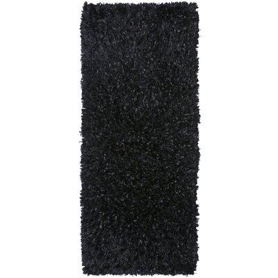 Baumann Hand-Loomed Black Area Rug Rug Size: Runner 2 x 5