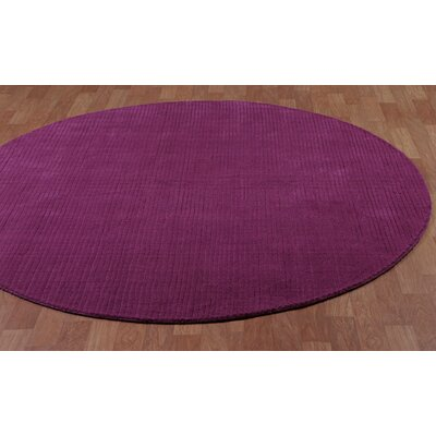 Pulse Orchid Area Rug Rug Size: Round 8