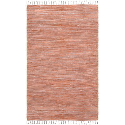 Complex Hand-Loomed Orange Area Rug Rug Size: 3 x 5