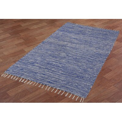 Complex Hand-Loomed Blue Area Rug Rug Size: 10 x 14