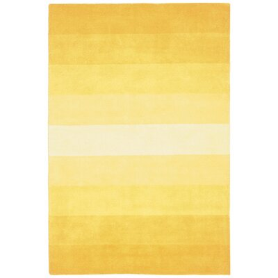 Degarmo Yellow Stripes Area Rug Rug Size: Rectangle 5 x 8