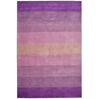 Degarmo Purple Stripes Area Rug Rug Size: Rectangle 8 x 10