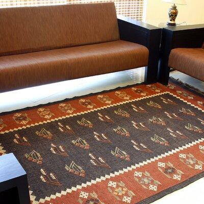 Hacienda Prescott Black Floral Area Rug Rug Size: 8 x 10