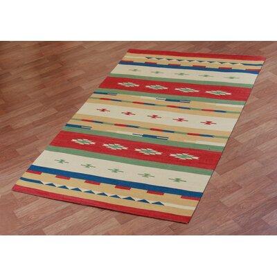 Sedona Hand-Woven Red Area Rug Rug Size: 4 x 6
