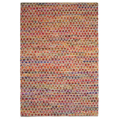 Complex Hand-Loomed Red/Orange Area Rug Rug Size: 5 x 8