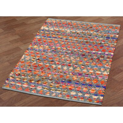 Complex Hand-Loomed Gray/Green Area Rug Rug Size: 19 x 210