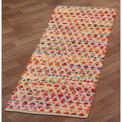 Complex Hand-Loomed Red/Orange Area Rug Rug Size: Runner 2 x 5