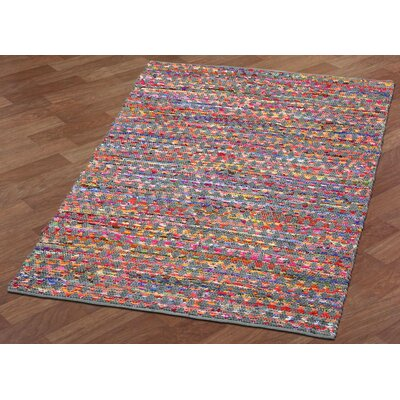 Complex Hand-Loomed Gray/Green Area Rug Rug Size: 4 x 6