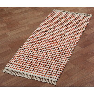 Complex Hand-Loomed Orange Area Rug Rug Size: Runner 2 x 5
