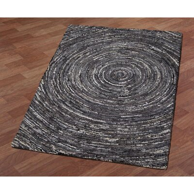 Brilliant Ribbon Hurricane Hand-Tufted Gray Area Rug Rug Size: 4 x 6
