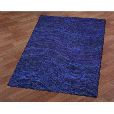 Brilliant Ribbon Wave Hand-Tufted Area Rug Rug Size: 5 x 8