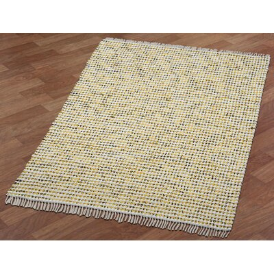Complex Hand-Loomed Yellow Area Rug Rug Size: 5 x 8
