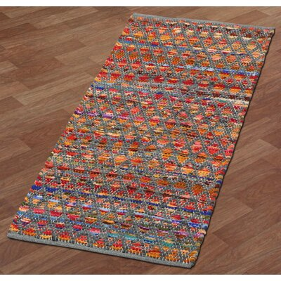 Complex Hand-Loomed Gray Area Rug Rug Size: 5 x 8