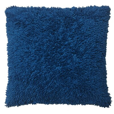 Shagadelic Chenille Euro Pillow Color: Neon Blue