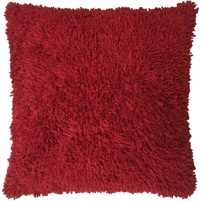 Shagadelic Chenille Euro Pillow Color: Burgundy