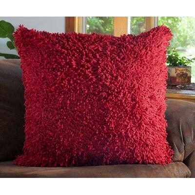 Shagadelic Chenille Euro Pillow Color: Red