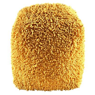 Hohl Shagadelic Chenille Pouf Ottoman Upholstery: Yellow
